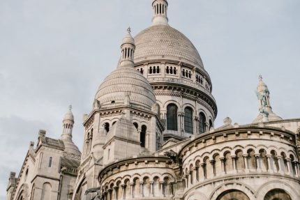 aged domed catholic cathedral made of travertine